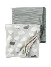 Carter's® 2-pk Lamb Swaddling Blankets