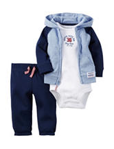 Carter's® 3-pc. Little All Star Hooded Cardigan Set – Preemie & Baby 0-12 Mos.