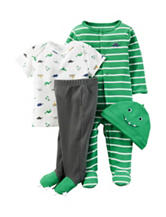 Carter's® Green Dinosaur Print Layette Set – Baby 0-24 Mos.