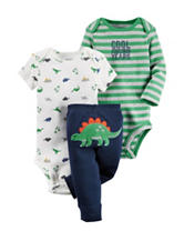 Carter's® 3-pc. Beyond My Years Dinosaur Set – Baby 0-3 Mos.