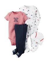 Carter's® 4-pc. Mighty Cute MVP Bodysuit Set - Preemie- 9 Mos.