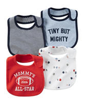 Carter's® 4-pk. Tiny But Mighty Bibs