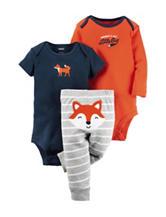 Carter's® 3-pc. Fox Bodysuit & Pants Set – Baby 0-3 Mos.
