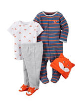 Carter's® 4-pc Fox Bodysuit Set - Baby 0-3 Mos.