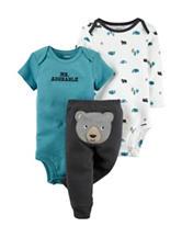 Carter's® 3-pc. Little Wild One Bodysuit & Pants Set – Baby 0-24 Mos.