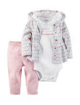 Carter's® 3-pc. Happy Amazing Brilliant Bodysuit & Leggings Set – Preemie Baby 0-12 Mos.