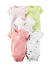 Carter's® 5-pk. Little Blooms Butterfly Bodysuits – Preemie Baby 0-12 Mos.