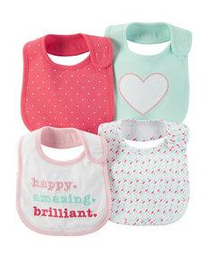 Carter's Pink Bibs & Burp Cloths
