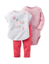 Carter's® 3-pc. Hello Cutie Top & Leggings Set – Baby 0-12 Mos.