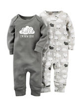 Cater's® 2-pk. Hello I'm New Here Coveralls – Baby 0-9 Mos.