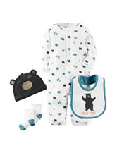 Carter's® 4-pc. Little Wild One Bodysuit Set – Preemie & Baby 0-9 Mos.