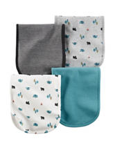 Carter's® 4-pk. Outdoor Print Burp Cloths