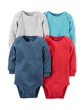 Carter's® 4-pk. Heathered Bodysuits - Baby 0-9 Mos.