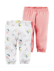 Carter's® 2-pk. Little Blooms Interlock Pants – Toddler Girls