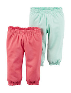Carter's® 2-pk. Hello Cutie Interlock Pants – Baby 0-9 Mos.