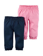 Carter's® 2-pk. Solid Color Interlock Pants – Baby 0-24 Mos.