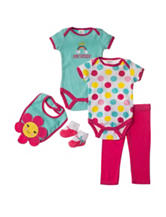 Baby Gear 5-pc. Smiley Flower Pant Set – Baby 0-9 Mos.