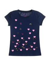 Colette Lily Navy Heart T-shirt  – Girls 4-6x