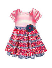 Rare Editions Multicolor Floral Print Tiered Dress – Toddler & Girls 5-6x