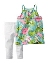 Carter's® Multicolor Floral Print Top & Leggings Set – Toddler Girls