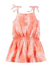 Carter's® Orange & White Tie-Dye Knit Dress – Toddler Girls