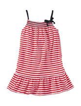 Oshkosh B'Gosh® Red & White Striped Print Dress – Toddler Girls