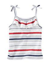Oshkosh B'gosh® Red, White & Blue Striped Print Tank – Girls 5-6x