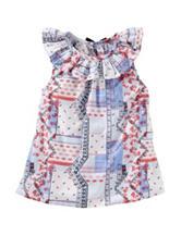 Oshkosh B'Gosh® Multicolor Bandana Patchwork Printed Top – Toddler Girls