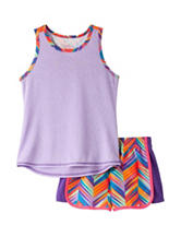 Wishful Park 2-pc. Multicolor Chevron Print Short Set – Toddler & Girls 5-6x