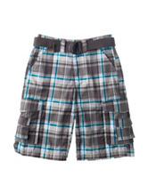 Chalc Multicolor Plaid Print Twill Shorts – Boys 8-20