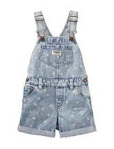 Oshkosh B'Gosh® Star Print Light Wash Shortall – Toddler Girls