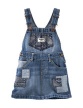 Oshkosh B'Gosh® Patchwork  Denim Jumper – Toddler Girls