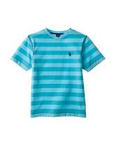 U.S. Polo Assn. Blue Striped V-neck T-shirt - Boys 8-20