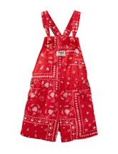 Oshkosh B'Gosh® Red Bandana Print Shortall –Toddler Girls