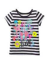 Twirl Striped Butterfly Love Top – Girls 4-6x