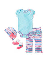 Baby Gear 4-pc. Floral Aztec Pant Set – Baby 0-12 Mos.