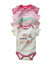 Baby Gear 4-pk. Smile & Be Happy Bodysuit Set – Baby 0-9 Mos.
