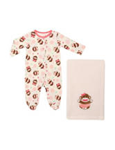 Baby Starters Monkey Print Sleep & Play with Blanket - Baby 0-9 Mos.