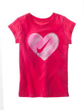 Nike® Heart Swoosh Tee - Girls 4-6x