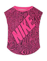 Nike® Pink & Black Printed Top – Girls 4-6x