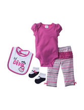 Baby Gear 4-pc. Lil Diva Bodysuit & Leggings Set - Baby 3-12 Mon.