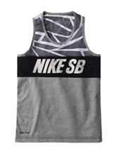 Nike® Dri-FIT Grey MUSCLE Tank – Boys 8-20