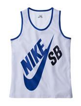 Nike® White Logo Muscle Tank – Boys 8-20