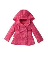 Urban Republic Tonal Pink Plaid Trench Jacket - Baby 12-24 Mos.