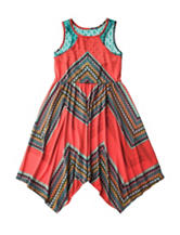 Rare Editions Chevron Print Dress - Girls 7-16