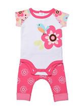 Boppy 2-pc. Floral Bodysuit & Pants Set - Baby 0-9 Mos.