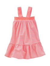 Oshkosh B'Gosh® Pink & White Striped Print Maxi Dress – Toddler Girls