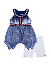 Litte Lass Bike Shorts Set - Toddlers & Girls 4-6x