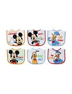 Baby Essentials 6-pk. Mickey & Friends Bibs