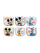 Baby Essentials 6-pk. Mickey & Friends Bibs